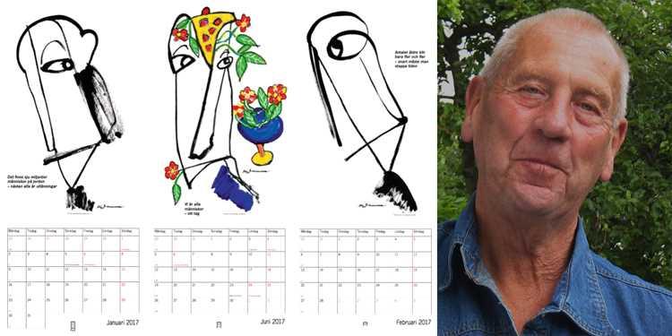Tioårsjubileum av Stig Johanssons Visdomskalender 2017