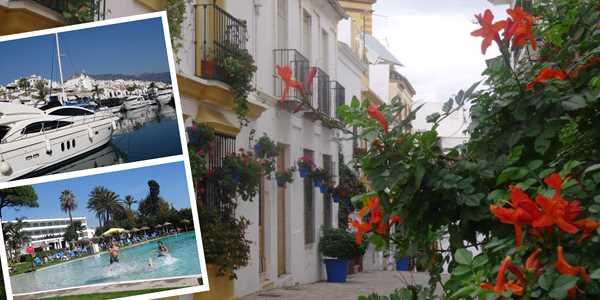 Sköna Andalusien med sol och kultur