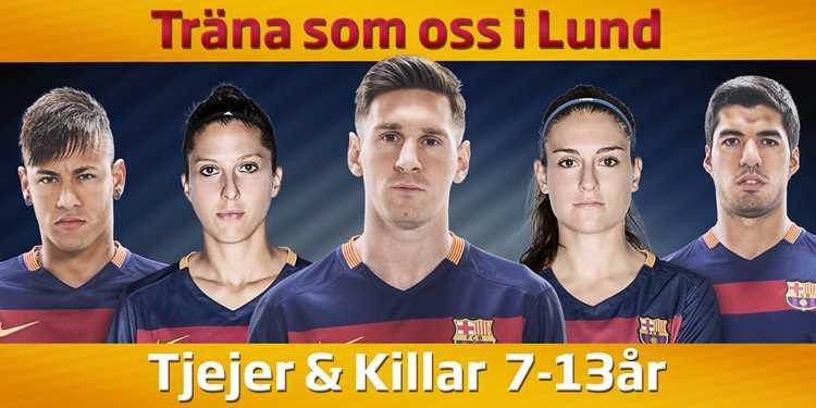 Träna med FC Barcelona i Lund